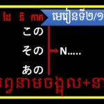 Learning Japanese grammer level1 lesson2/16