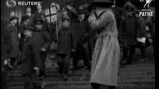 Japanese sailors sightseeing in London (1919)