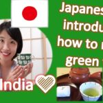 Japanese girl introducing how to make green tea