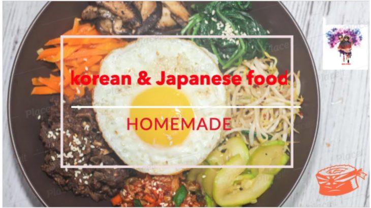 HOMEMADE KOREAN 🇰🇷 & JAPANESE FOOD 🇯🇵 ⎜BIBIMBAP ⎜ SUSHI ⎜ Milan&Piyunca