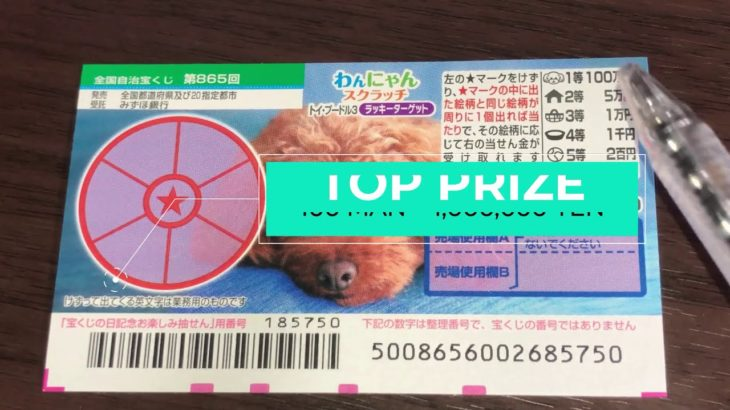 HOW TO PLAY WANNYAN Drawing 865 – A NEW JAPANESE SCRATCH TICKET