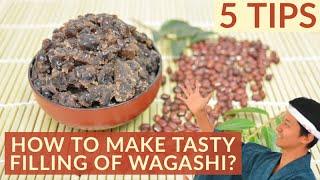 How to make tasty and easy Adzuki Tsubuan | Japanese half smashed adzuki bean paste /小豆粒あんの作り方
