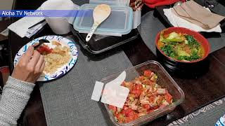 Our Dinner Was Delicious I We Ordered Filipino and Japanese Food From Two Different Restaurants