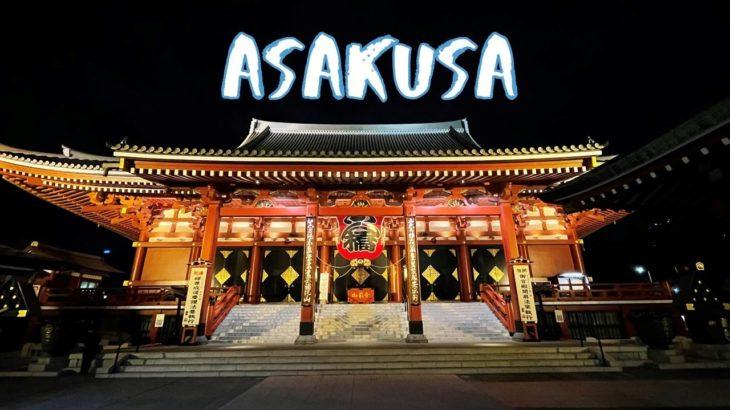 [Vlog] Night Illumination in Asakusa | Tokyo Sightseeing, Japan