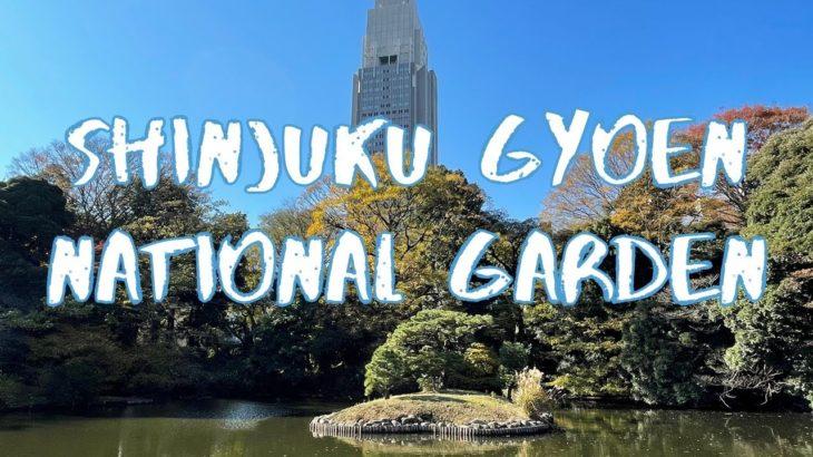 [Vlog] Shinuku Gyoen National Garden with Autumn Leaves   Tokyo Sightseeing, Japan