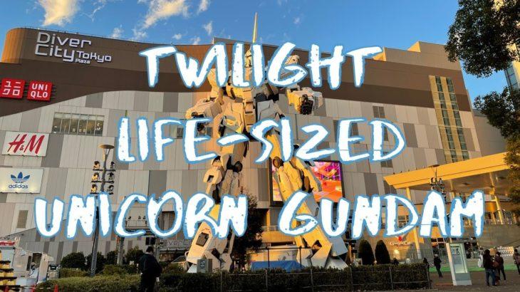 [30X Vlog] Twilight Life-Sized Unicorn Gundam Statue in Odaiba | Tokyo Sightseeing, Japan