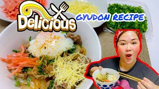 HOW TO MAKE #GYUDON |#JAPANESE BEEF BOWL |#JAPANESEFOOD|#GHINAWEDDAFUJII