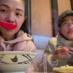 JAPANESE FOOD (udon noddles mukbang with my bestie  #happyfirstdayoftheyear2021