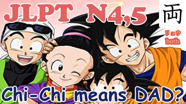 【JLPT N4, N5 Vocabulary】Learn Japanese with Dragon Ball !! ドラゴンボール