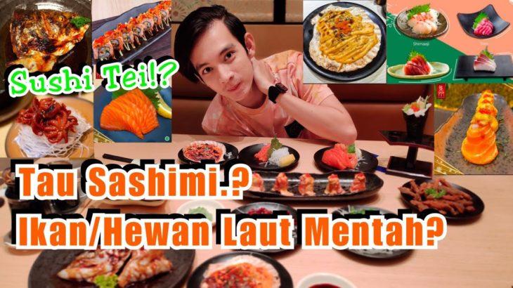 Makan Ikan Mentah Di Sushi Tei Japanese Food | #sushi #sushitei #sashimi #japanesefood #indonesia