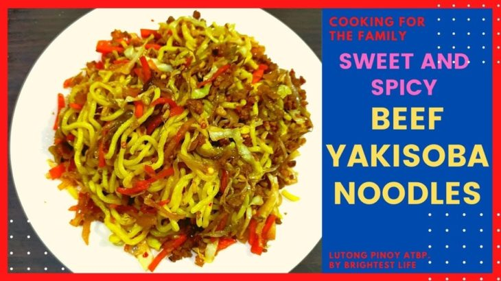 Sweet & Spicy Beef Yakisoba Noodles | Delicously Perfect Japanese Food Recipe Cooking for the Family