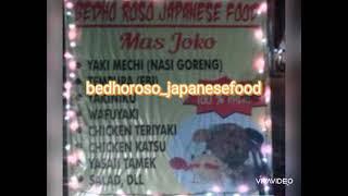 """warjep """"BEDHO ROSO JAPANESE FOOD"""" mas joko cepu"""