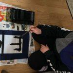 GAIJIN KID LEARNING JAPANESE KANJI || SHUUJI / PENMANSHIP || Angelica vlog