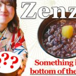 Japanese food. Delicious zenzai in the cold season.