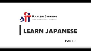 Learn Japanese – Part 2 | Hiragana