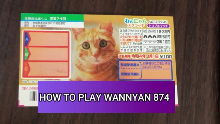 NEW JAPANESE SCRATCH GAME HOW TO PLAY WANNYAN DRAWING 874