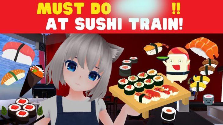 Top 3 things to do at sushi train! #Japanese #learn japanese #vtuber teacher moe