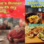 Valentine's Dinner Date With My Darling|Kabuki Japanese & Korean Cusine|Evelyn Darabos Of USA