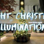 [Vlog] Night Christmas Illumination in Tokyo Square Garden   Tokyo Sightseeing, Japan