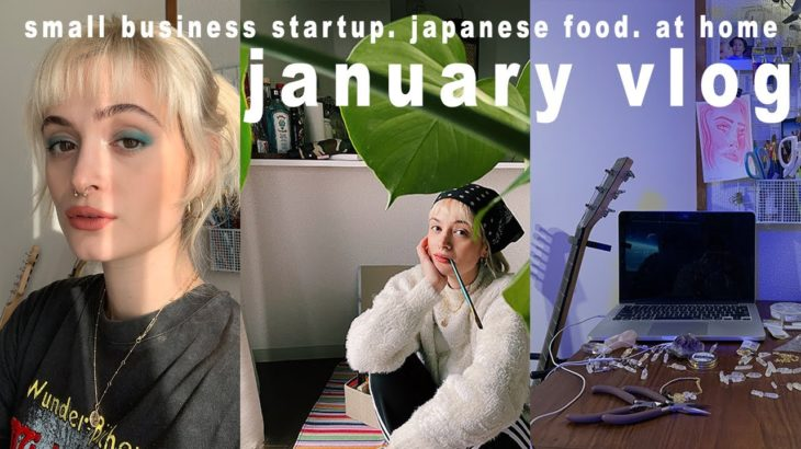 🇯🇵 vlog | daily routines in january – small business set up, japanese food & cooking at home