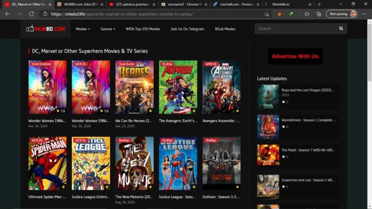 Download Any Movie Bollywood/Hollywood/Japanese/Anime/Cartoons In 720p/1080p | Random Things