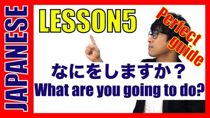 Online Learning Japanese Language   The master of Japanese : Lesson5 Nani o shi-masu ka?