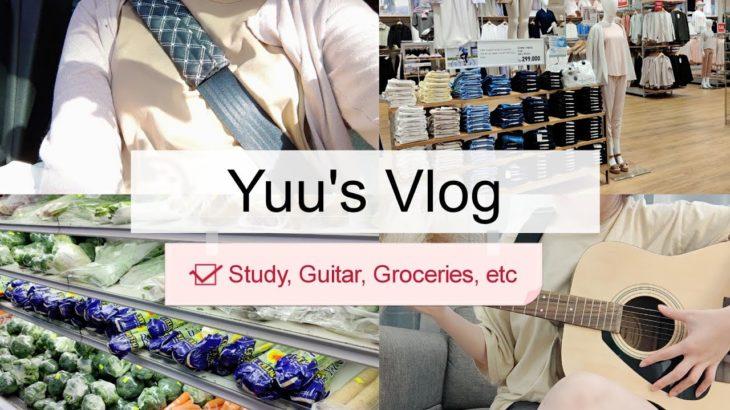 Yuu's Vlog   Learning Guitar   Study Japanese   Groceries