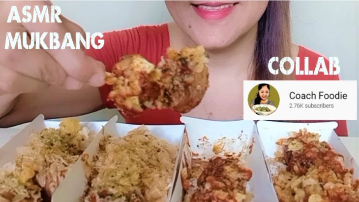 ASMR MUKBANG TAKOYAKI JAPANESE STREET FOOD COLLAB WITH @Coach Foodie| EATING SHOW
