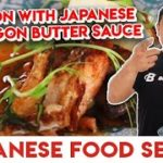 RESEP SALMON WITH JAPANESE TARRAGON BUTTER SAUCE | JAPANESE FOOD SERIES