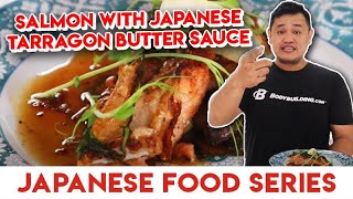 RESEP SALMON WITH JAPANESE TARRAGON BUTTER SAUCE   JAPANESE FOOD SERIES