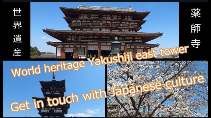World Heritage Site Yakushiji East Pagoda in Japan 世界遺産 薬師寺東塔