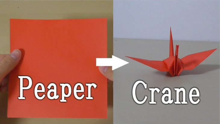 【Japanese culture】A piece of paper become a crane【Origami】