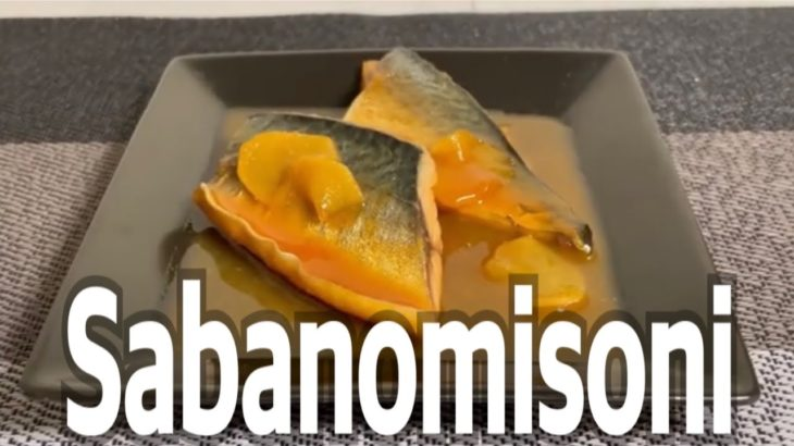 Japanese food – sabanomisoni (cooking)
