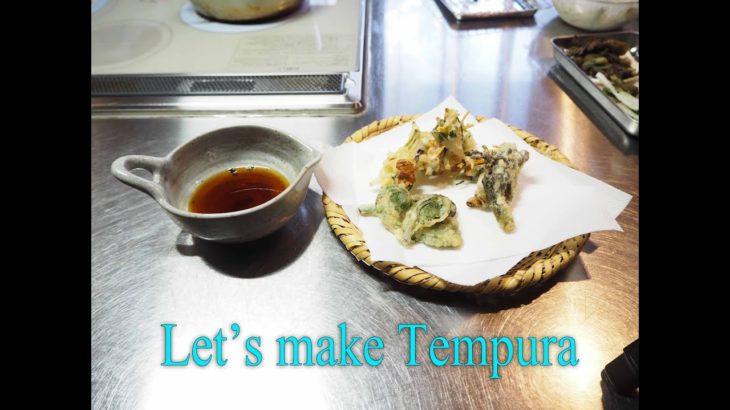 Oorganic Japanese food recipe.Tempura.