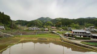 Osaka to Nagoya by Kintetsu Railway – Japanese villages, Farms, Rivers, Mountains sightseeing Part 1