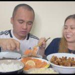 JAPANESE FOOD Eating Show!   Salmon Sashimi   Chicken Karaage   Philippine Mukbangers   PinoyMukbang