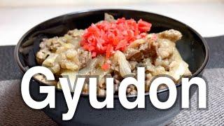 Japanese food Gyudon (cooking) 牛丼 簡単!! 美味しい!!