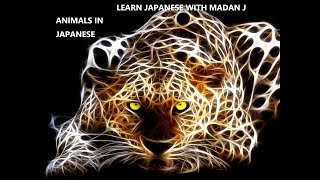 LEARN JAPANESE WITH MADAN J   ANIMALS   JAPANESE