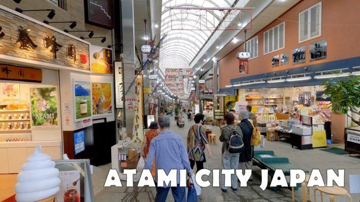 Sightseeing in Atami City, Shizuoka Japan 4K Shopping Arcades & Lusca Atami (Shopping Complex)