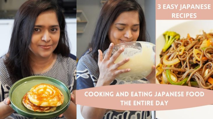 Cooking and Eating JAPANESE FOOD the entire day