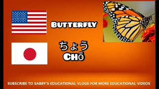 HOW TO SAY BUTTERFLY IN JAPANESE | SABBY'S LEARNING JAPANESE