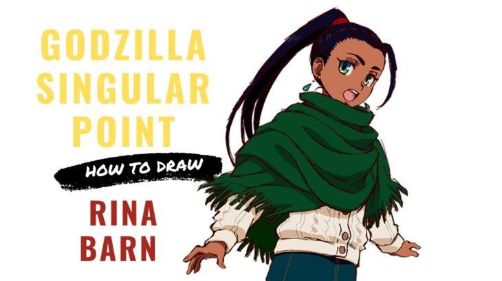 How to draw RINA BARN from GODZILLA SINGULAR POINT | Japanese ANIME series