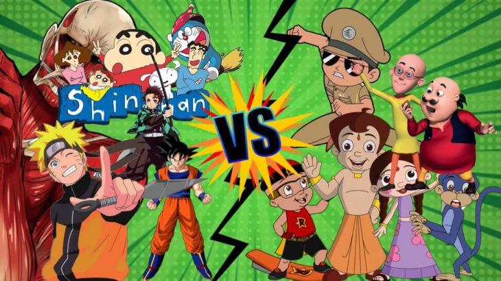 Indian Cartoons vs Anime (Japanese)    ANiMeBoi