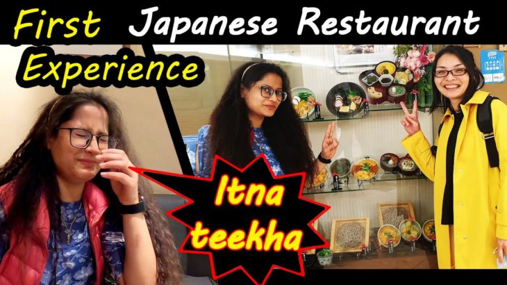 Japanese Restaurant !! shocking food !! chalo chalte hai !! Indian in japan!!