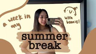 a week in my summer break   ballet, editing, learning japanese