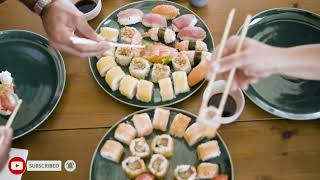 sushi lovers free video japanese food /food vlog/cooking vlog/life style  lucille realitytv