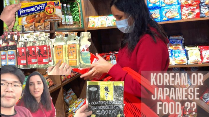 [Culture shock] Indian wife shopping in Japanese & Korean Food Shop [International couple]