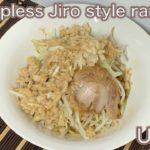 【Uncut】Soupless Jiro style ramen ~Ramen planning Day11~[ramen][Japanese food][ramen cooking]