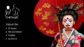Kabuki Set Chim Hair (lel EVO X)