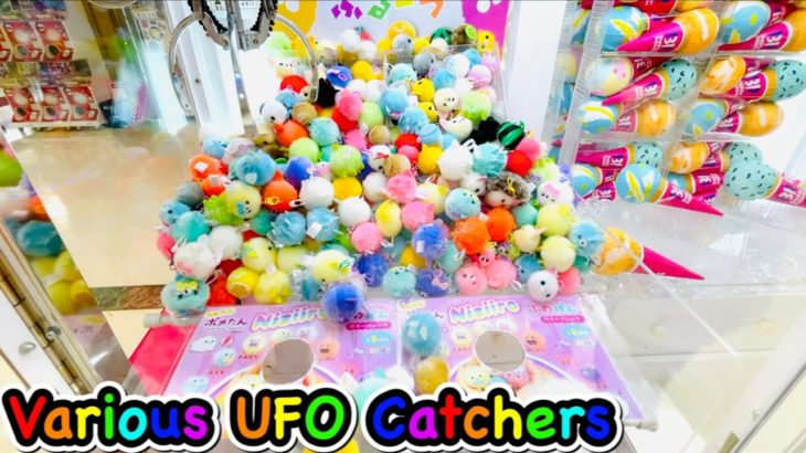 Various Claw Machine in Japan !! UFO Catchers Wins!! Cute Prizes ! Anime , Game , Doll UFOキャッチャー